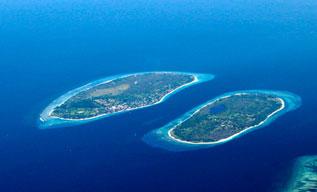L'île Trawangan, Gili Indonésie